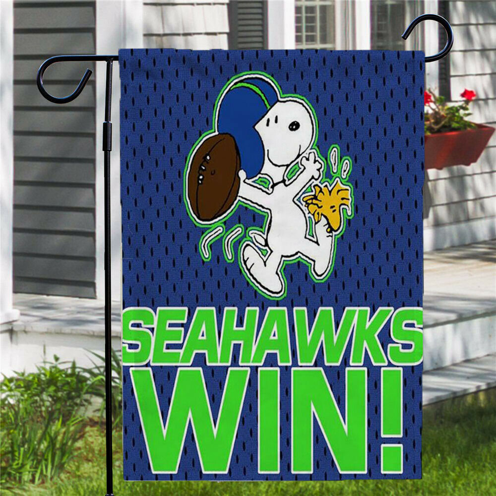Peanuts Double-Sided Flag - NFL Seattle Seahawks Win!