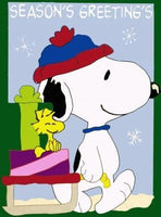 SLED RIDE SNOOPY Flag