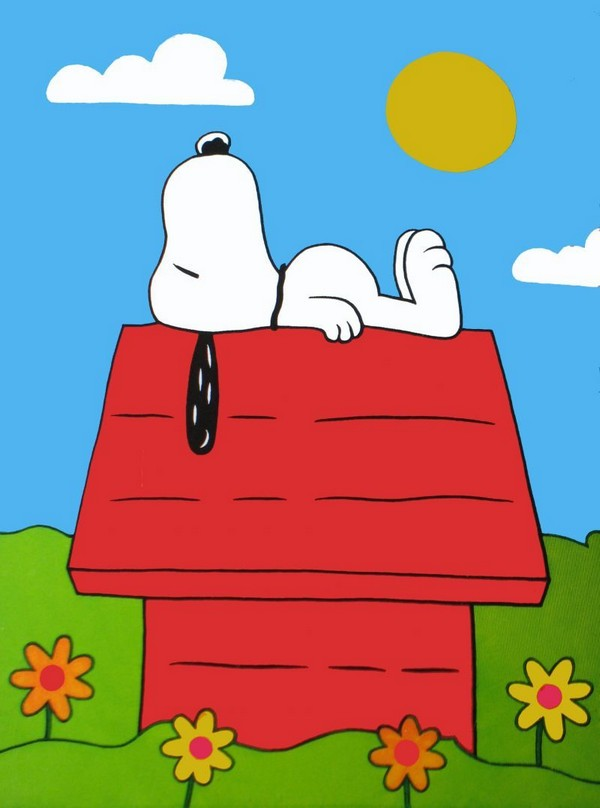 NON-VINTAGE FLAG - SNOOPY'S DOGHOUSE