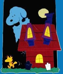 SNOOPY'S HAUNTED HOUSE Flag - Reduced Price!