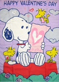 SNOOPY'S LOVE LETTERS VALENTINE'S DAY Flag