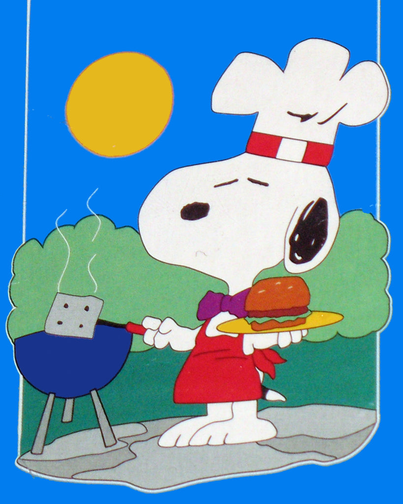 SNOOPY BBQ Sculpted Flag