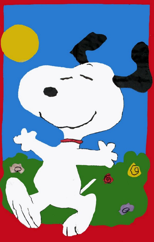 DANCING SNOOPY Sculpted Flag
