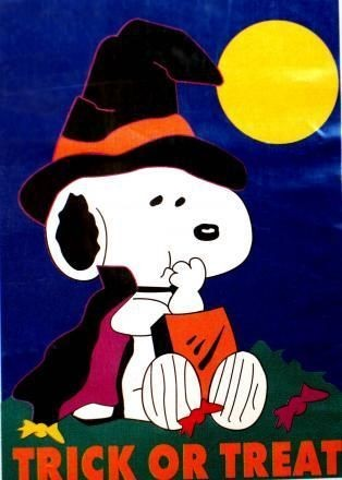 TRICK OR TREAT SNOOPY Flag