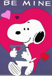 BE MINE SNOOPY VALENTINE Flag