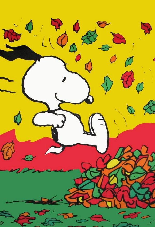 SNOOPY FALL FUN Flag