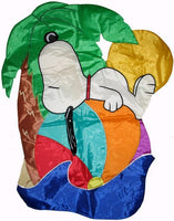 BEACH BALL SNOOPY Quilted Windsculpt