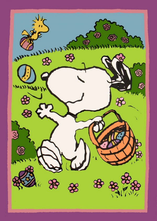 PEANUTS GANG EASTER Flag