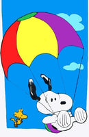 PARACHUTING SNOOPY Flag