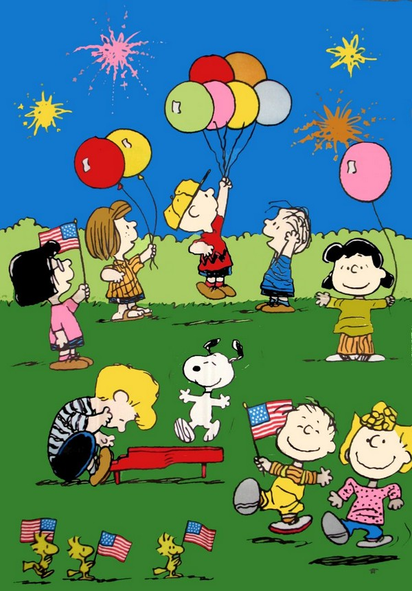PEANUTS GANG 4TH OF JULY Flag - RARE!