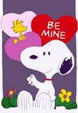 BE MINE SNOOPY VALENTINE Flag - Reduced Price!