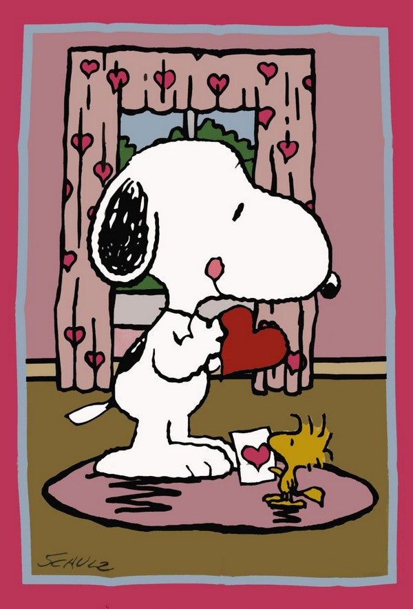 PEANUTS GANG VALENTINE'S DAY Flag