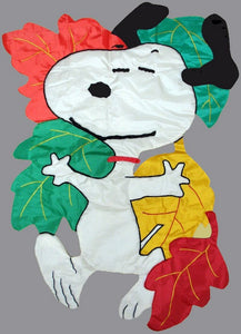 FALL DANCIN' SNOOPY Quilted Windsculpt
