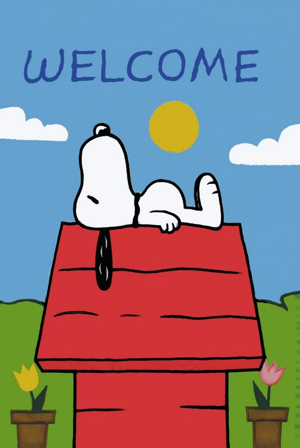 NON-VINTAGE FLAG - SNOOPY'S DOGHOUSE WELCOME - ON SALE!
