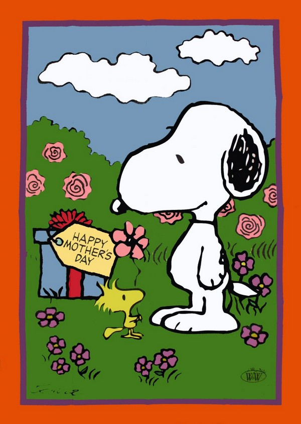 PEANUTS GANG MOTHER'S DAY Flag