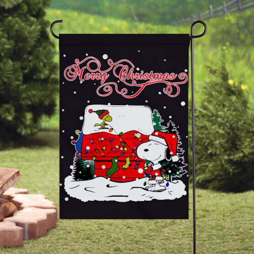 Peanuts Double-Sided Flag - Merry Christmas