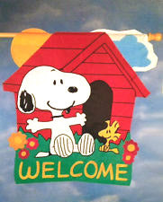 SNOOPY AND WOODSTOCK WELCOME Quilted Windsculpt