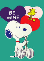 BE MINE SNOOPY Sculpted Valentine Flag
