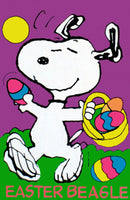 EASTER BEAGLE SNOOPY Flag