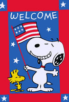 NON-VINTAGE FLAG - PATRIOTIC WELCOME