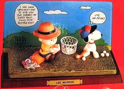 Flambro Figurescene - Charlie Brown and Snoopy Golfers