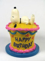Flambro Snoopy Birthday Cake - Cake Topper