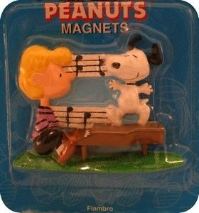 Schroeder and Snoopy Flambro magnet