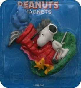 Snoopy Golfer Flambro Magnet