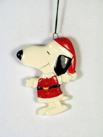 Snoopy Santa Christmas Ornament