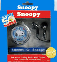 Snoopy FM Auto Tuning Radio With Strap