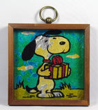 Snoopy Multi-Colored Framed Foil Picture