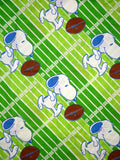 Vintage Peanuts Gang Fitted Sheet - Football