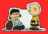 Charlie Brown and Lucy Football Pin