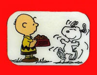 Charlie Brown Feeding Snoopy Pin