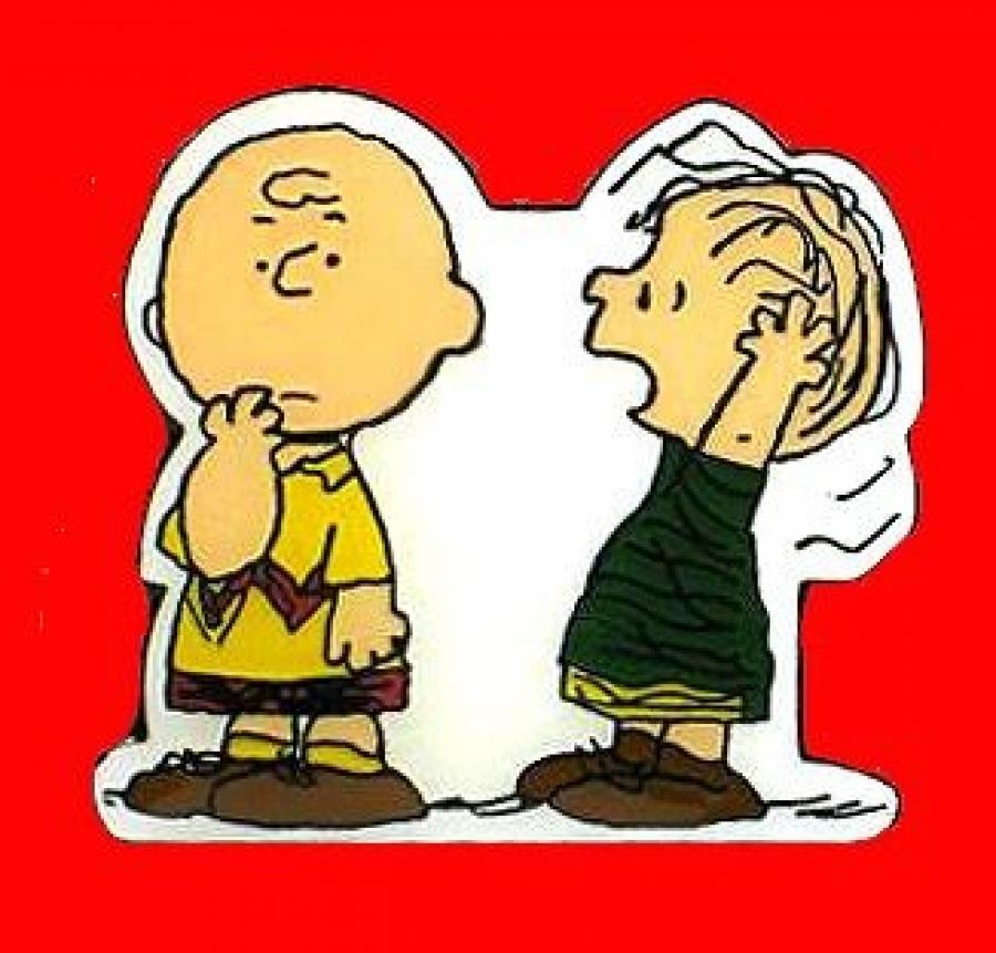 PEANUTS LINUS /& SLEEPING SNOOPY PIN