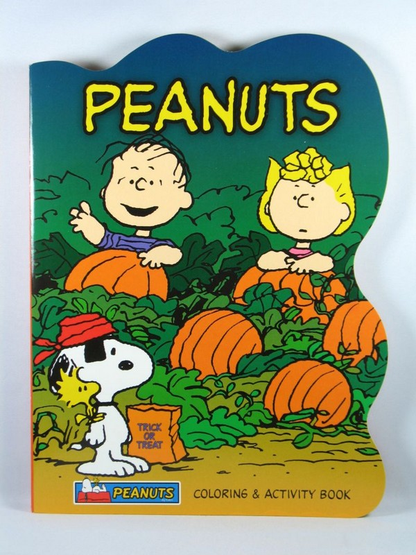 Peanuts Fun Shaped Coloring Book - Linus and Sally