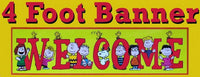 Giant Peanuts Gang Classroom Welcome Banner - 4 Feet Long!