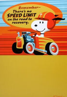 Get Well Card - Racing Snoopy