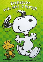 Holographic Animated Get Well Card - Dancing Snoopy and Woodstock