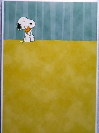Get Well Card - Snoopy and Woodstock Hug