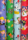 Peanuts Gang Christmas Heavyweight Super Mega Gift Wrap Roll - 110 Sq. Feet!