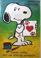 GIANT Snoopy FRENCH Anniversary Card