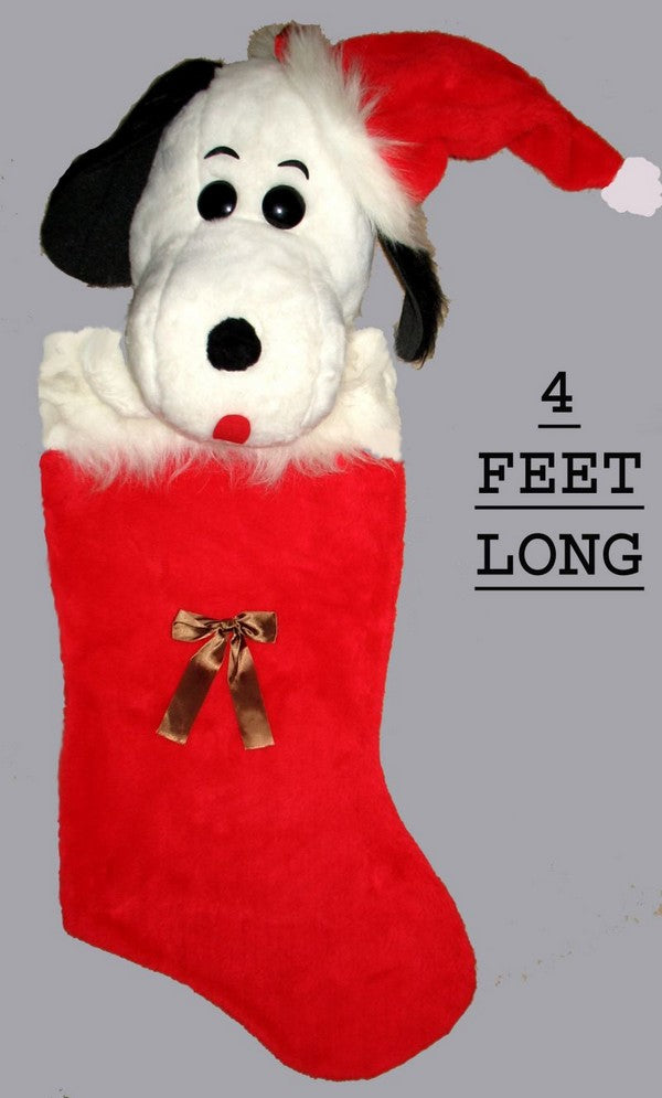 GIANT VINTAGE SNOOPY CHRISTMAS STOCKING