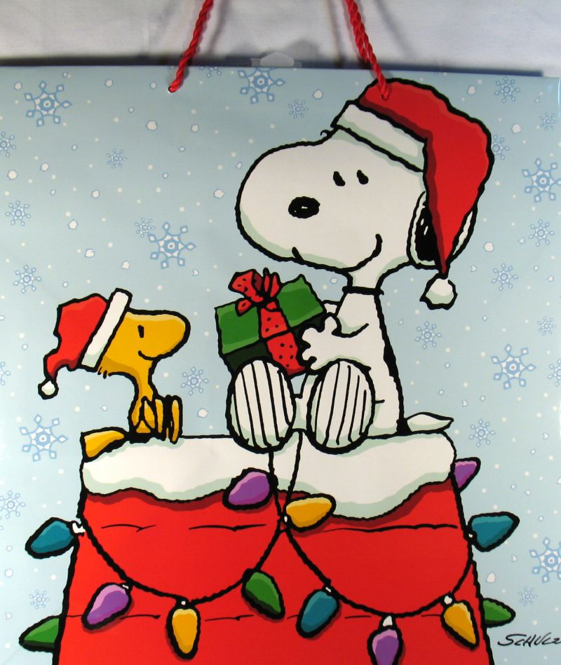 Snoopy Santa Large Christmas Gift Bag