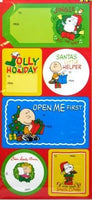 Peanuts Gang Christmas Gift Tag Stickers