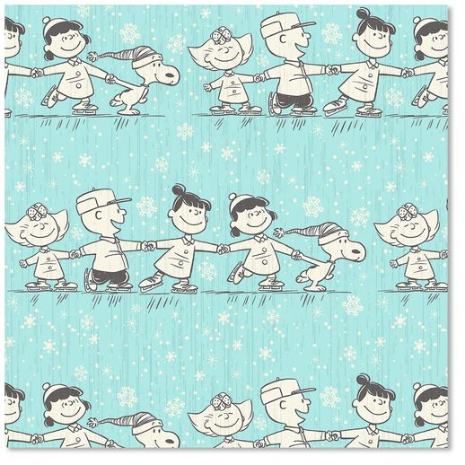 Peanuts Gang Holiday Heavyweight Gift Wrap Roll