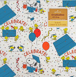 Snoopy and Woodstock Vintage Graduation Gift Wrap Roll