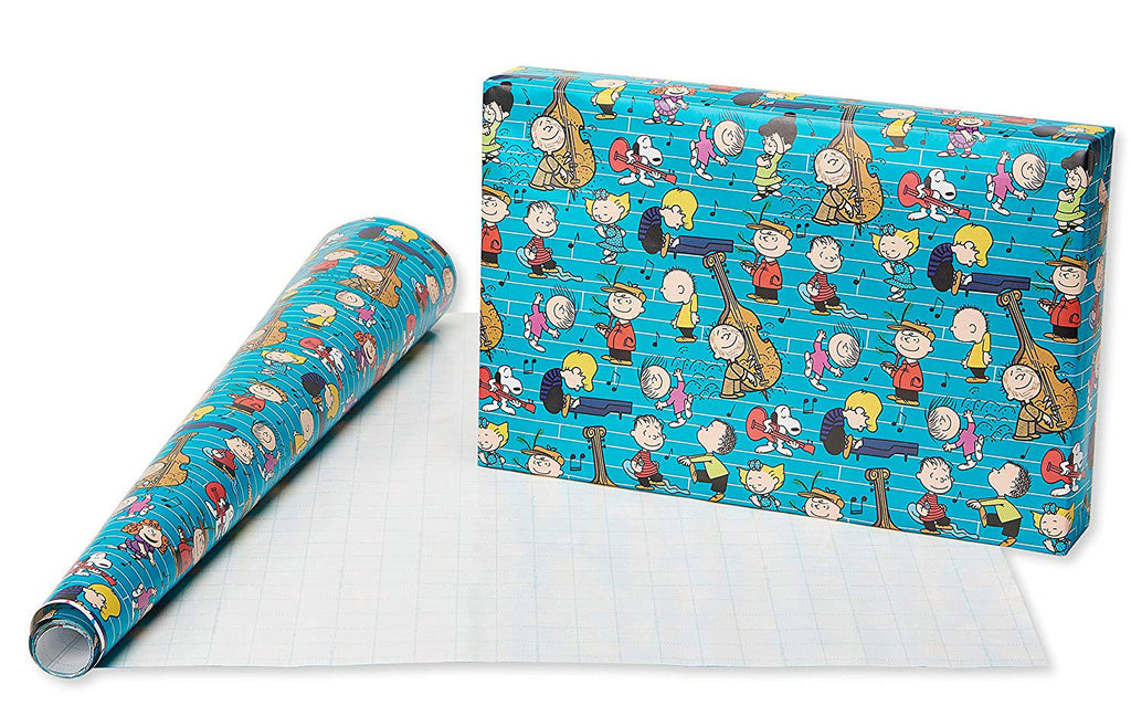 Peanuts Gang Holiday Gift Wrap Roll - 70 Sq. Feet!