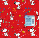 Dancing Snoopy Gift Wrap