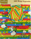 Snoopy Sports Vintage Gift Wrap Ensemble